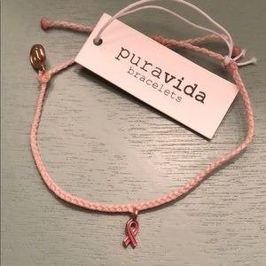 NWT Pura Vida Pink Breast Cancer Bracelet